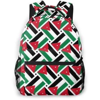 リュック ヨルダンの旗 バックパック リュックサック 大容量 軽量 耐久性 アウトドア 学生 通学 外出 男女兼用