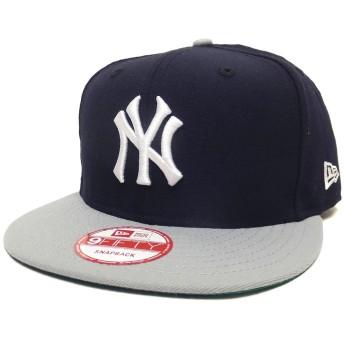 (ニューエラ)New Era スナップバックキャップ NY ヤンキース 紺/灰 11308469 ネイビー/グレー 9FIFTY MLB NEW YORK YANKEES