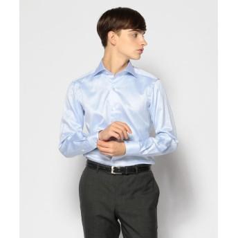 トゥモローランド 120/2コットンヘリンボーン ワイドカラー ドレスシャツ NEW WIDE 5 メンズ 63ライトブルー 42 【TOMORROWLAND】