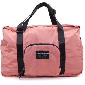 Aness (アネス) コンパクト収納 撥水加工 ボストンバッグ ボストン キャリーオン対応 大容量 スポーツ ジムバッグ 旅行バッグ #p229 (ピンク)