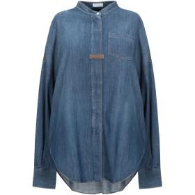 《期間限定セール開催中!》BRUNELLO CUCINELLI レディース デニムシャツ ブルー M コットン 100% / 真鍮/ブラス