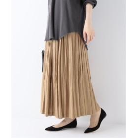 (Spick & Span/スピック&スパン)Chambray twill Pleated スカート◆/レディース ブラウン