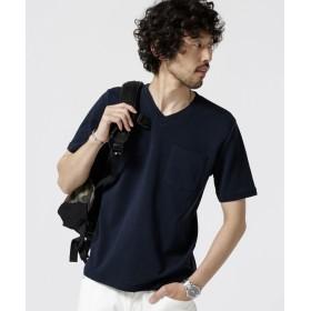 編み立てリブVネックTシャツ 5000円以上送料無料【公式/ナノ・ユニバース】