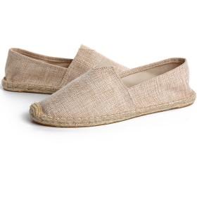 SGFY メンズ 春夏 手作りのシューズ 麻の靴底 カジュアル 履き心地いい 多くの色 (25.5cm(41), I)