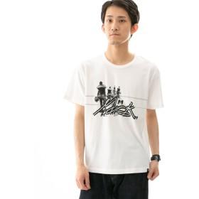 [ワークノットワーク] tシャツ MASK PRINT T-SHIRTS-A メンズ WHITE L