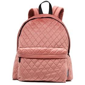 サックバッグ キルティング鞄 リュックバッグ ベルベットバッグ リュックサック バックバッグ 4色 (ピンク)