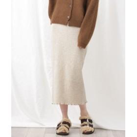 ウールカシミアリブスカート 5000円以上送料無料【公式/ナノ・ユニバース】