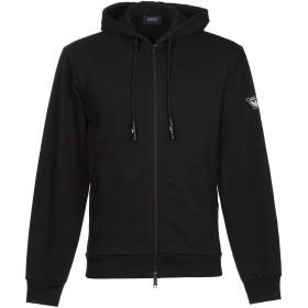《期間限定セール開催中!》ARMANI JEANS メンズ スウェットシャツ ブラック XS コットン 84% / ポリエステル 16% / ポリウレタン