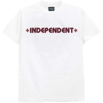 INDEPENDENT T-SHIRT インディペンデント Tシャツ BAR CROSS スケートボード スケボー SKATEBOARD 白,M