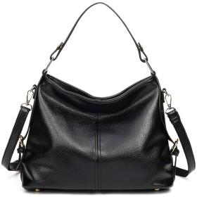 BTXXY ハンドバッグ レディース 手提げ 大容量 旅行 仕事 女性用 ビジネスバッグ 4色入 (Color : ブラック, Size : Onesize)