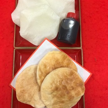自宅で焼きたてが食べられるお煎餅、栗黒糖どら焼2個セット