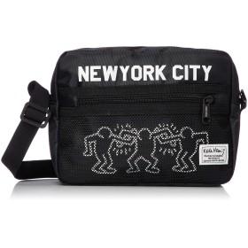(プロダクティワランティ) PRODUCTY WARRANTY 【Keith Haring/キースヘリング】 横型 メッシュポケット ショルダーバッグ KHB-KH1814KHB-KH1815 FREE ブラック×ホワイト
