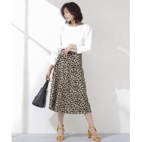 レオパードフレアスカート 5000円以上送料無料【公式/ナノ・ユニバース】