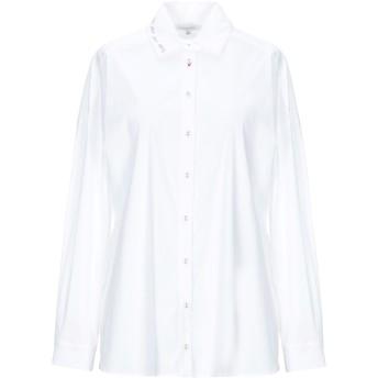 《セール開催中》PATRIZIA PEPE レディース シャツ ホワイト 42 コットン 67% / ナイロン 27% / ポリウレタン 6%