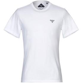 《期間限定セール開催中!》BARBOUR メンズ T シャツ ホワイト M コットン 100%