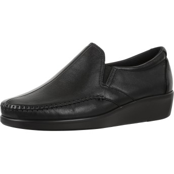 SAS Womens Dream Leather Loafers, Black, Size 5.5