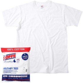 (ソフィー) SOFFE 3 Pack Military Tee M White