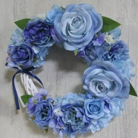 フラワーリース ブルー