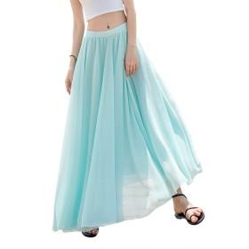 ロング チュール スカート 白 黒 ピンク ゴム aライン スカート