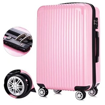 Minions Mall スーツケース キャリーケース キャリーバッグ 超軽量 TSAロック搭載 スムーズな移動が可能な静音4輪タイプ スーツケース トランクケース 旅行カバン 4泊 5泊 6泊 7泊丈夫 大容量 おしゃれ (ピンク、XS)