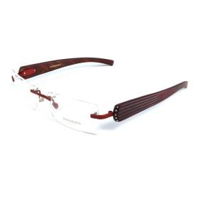 Boucheron Unisex Rimless Eyeglasses Red