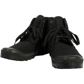 [エイト] 8(eight) ミリタリー スニーカー キャンバス ブラック 38 約22.5cm