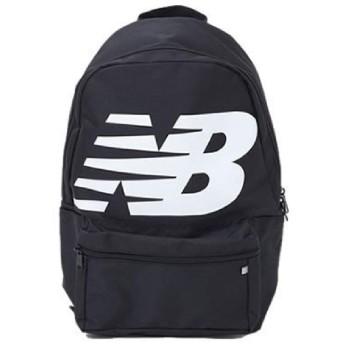 リュック デイパック ニューバランス Newbalance ロゴバックパック 17L スポーツバッグ メンズ レディース ビッグロゴ カジュアル かばん 鞄/JABL9403 ((BK)ブラック)