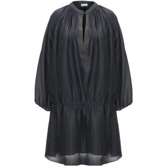 《セール開催中》BRUNELLO CUCINELLI レディース ミニワンピース&ドレス ブラック M アセテート 74% / シルク 26%