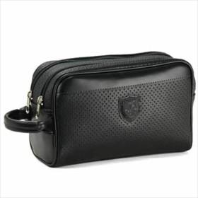 日本製 豊岡製鞄 セカンドバッグ 黒 セカンド ポーチ クラッチバッグ 2室 合皮レザー