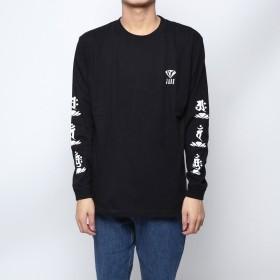 ジェイド JADE (ユニセックス) :袖ロゴ長袖Tシャツ -ブラック (ブラック)