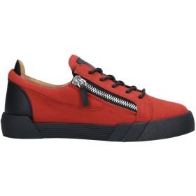 《期間限定セール開催中!》GIUSEPPE ZANOTTI メンズ スニーカー&テニスシューズ(ローカット) 赤茶色 39 革 / 紡績繊維