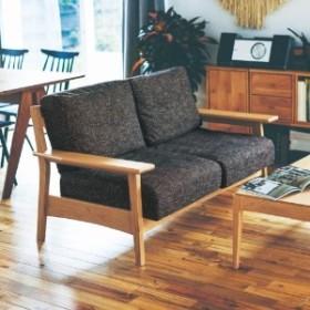 【大型商品送料無料】オーク材フレームのカバーリングソファー