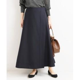 VERMEIL par iena 《予約》ドライウールラップスカート◆ ネイビー 36