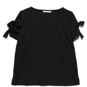 ジーラバイリュリュ GeeRA by RyuRyu 袖リボンTシャツ (ブラック)