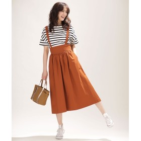 サスペンダー付きギャザースカート 5000円以上送料無料【公式/ナノ・ユニバース】