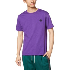 [ウィゴー] WEGO マスタッシュ ワンポイント 刺繍 T シャツ 半袖 S パープル メンズ