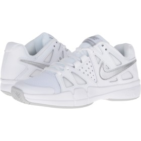 (ナイキ) NIKE レディーステニスシューズ・スニーカー・靴 Air Vapor Advantage White/Medium Grey/Metallic Silver 8 (25cm) B - Medium