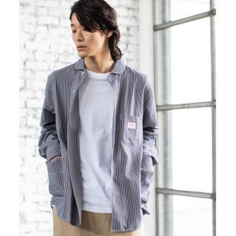 【15%OFF】 コーエン SMITH別注ガーデニングシャツ メンズ NAVY LARGE 【coen】 【タイムセール開催中】