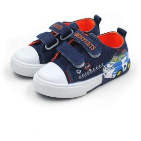 [STYLISH] スニーカー 子供靴 運動靴 スリッポン ベルクロ 男の子 女の子 ランニング アウトドア ダンススニーカー キッズシューズ ジュニア 通学靴 スクールシューズ キャラクター (17cm, ブルー)
