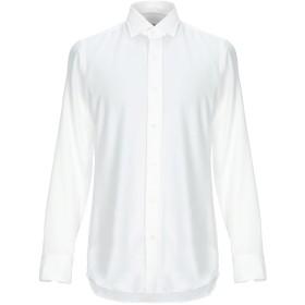 《期間限定セール開催中!》SALVATORE PICCOLO メンズ シャツ ホワイト 42 コットン 100%