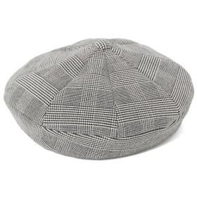 ビームス ウィメン Ray BEAMS / エイト パネル チェック ベレー帽 レディース GREY ONESIZE 【BEAMS WOMEN】