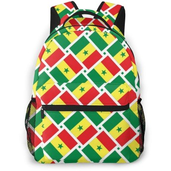 リュック セネガルの旗 バックパック リュックサック 大容量 軽量 耐久性 アウトドア 学生 通学 外出 男女兼用