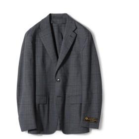 ESTNATION / LORO PIANA MOOVING グレンチェック2Bスーツ ライトインディゴブルー/50(エストネーション)◆メンズ セットアップ