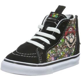 Vans ボーイズ SK8-Hi Zip Nintendo Mario & Luigi カラー: ブラック