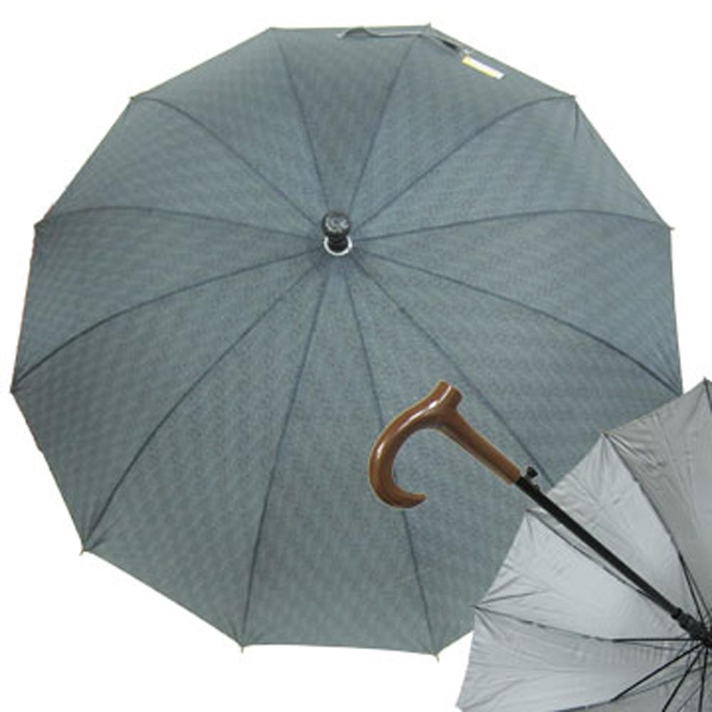 22X12K休閒銀素布FRP晴雨直傘