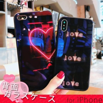 【国内発送/送無】 iPhoneX ケース iPhoneX iPhone8 iPhone7 ケース アイフォン8 アイフォンX ケース ガラス おしゃれ ハート スマホケース アイフォン8ケース
