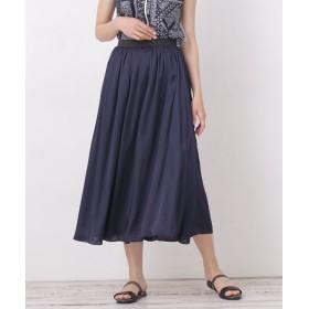 サテン×カットリバーシブルギャザースカート 5000円以上送料無料【公式/ナノ・ユニバース】