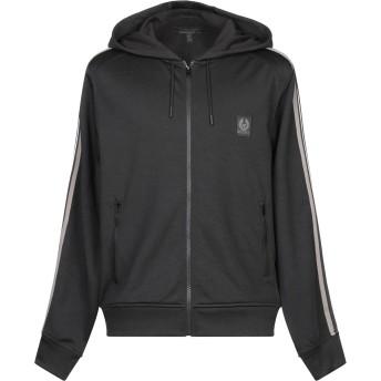 《期間限定セール開催中!》BELSTAFF メンズ スウェットシャツ ブラック XS コットン 50% / ポリエステル 50%