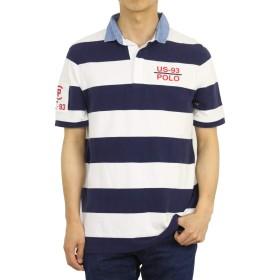 (ポロ ラルフローレン) POLO Ralph Lauren メンズ 半袖 クラシックフィット RL-93 ボーダー ラガーシャツ ポロシャツ0105665-XXL-BLUE [並行輸入品]