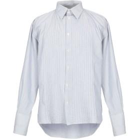 《期間限定セール開催中!》MESSAGERIE メンズ シャツ ライトグレー 41 コットン 78% / シルク 22%